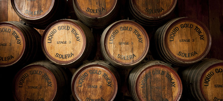 Casks of wine at Campbells Winery, Rutherglen